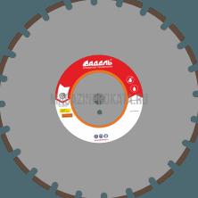 Адель  AF 710 / 450 мм / 24 сегм.. Алмазный диск AF 710 / 450 мм / 24 сегм. Адель