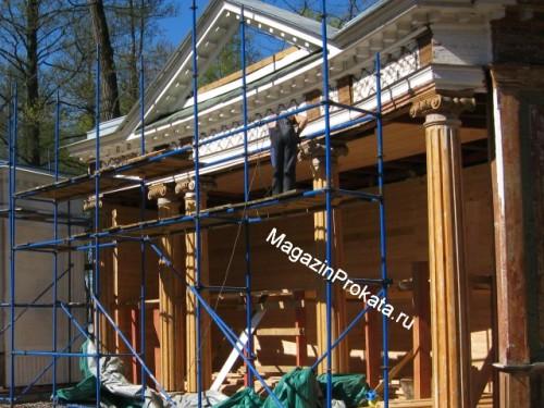 Основные преимущества заказа строительных лесов напрокат