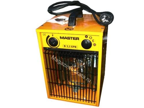 Аренда и прокат электрического тепловентилятора (тепловой пушки) Master B 3.3 EPB (1.65-3.3 КвТ). Главное фото.