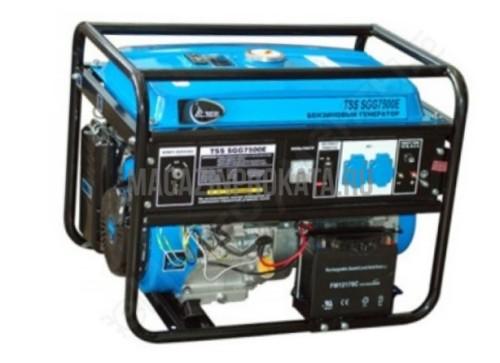 Аренда и прокат бензинового генератора TSS SGG 7500 E (6,2 кВт). Главное фото.
